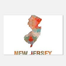 Mosaic Map NEW JERSEY Postcards (Package of 8)