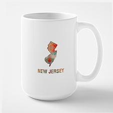 Mosaic Map NEW JERSEY Mugs