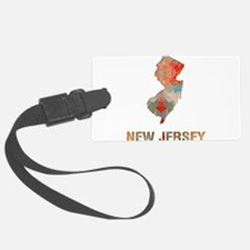 Mosaic Map NEW JERSEY Luggage Tag