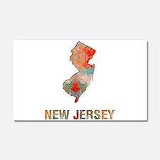 Mosaic Map NEW JERSEY Car Magnet 20 x 12
