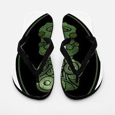 NZ Maori Tiki Flip Flops