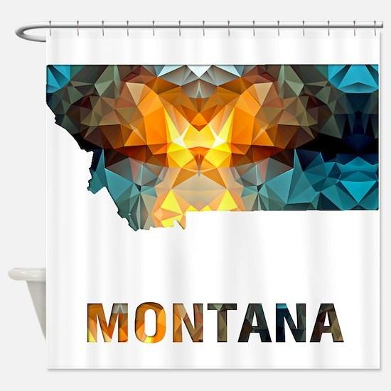 Mosaic Map MONTANA Shower Curtain