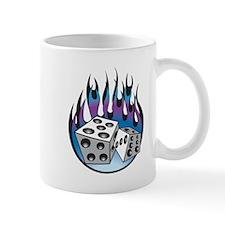 Retro Flaming Dice Design Mug