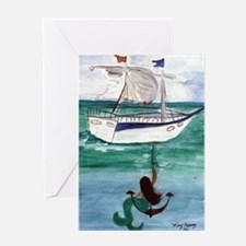 Anchor Mermaid Greeting Cards
