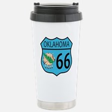 Route 66 Oklahoma sign Stainless Steel Travel Mug