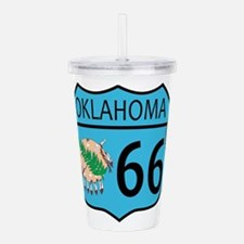 Route 66 Oklahoma sign Acrylic Double-wall Tumbler