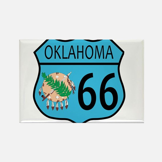 Route 66 Oklahoma sign and Flag Magnets