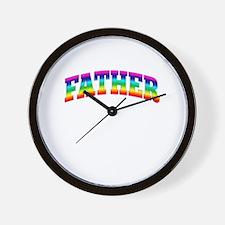 Rainbow FATHER Wall Clock