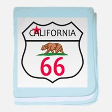 Route 66 California baby blanket