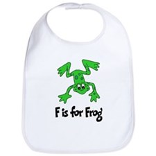 F is for Frog Bib