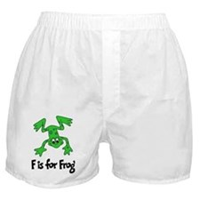 F is for Frog Boxer Shorts