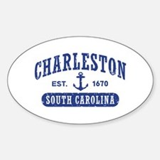 Charleston South Carolina Sticker (Oval)