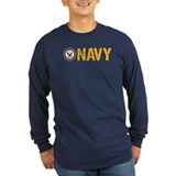 Navy Long Sleeve T-shirts (Dark)
