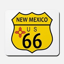 Route 66 New Mexico Flag Mousepad