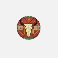 Western Cow Skull Mini Button
