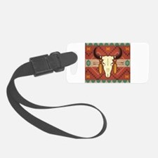 Western Cow Skull Luggage Tag