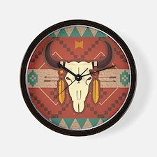 Western Cow Skull Wall Clock
