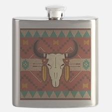Western Cow Skull Flask