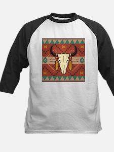 Western Cow Skull Baseball Jersey