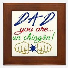 Cute Spanglish Framed Tile