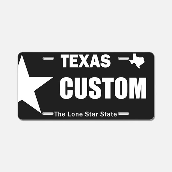 Texas Custom Aluminum License Plate