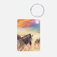 Beautiful Zebras Keychains