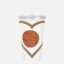 Love Basketball Acrylic Double-wall Tumbler