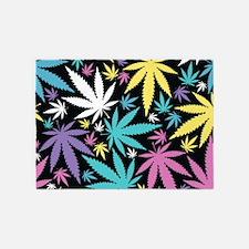 Colorful Cannabis 5'x7'Area Rug