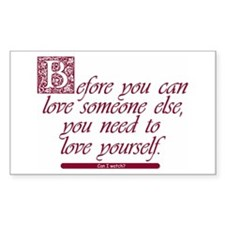 Love Yourself - Rectangle Decal