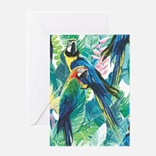 Colorful Parrots Greeting Cards