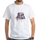 Boxers dog Mens White T-shirts