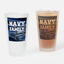 Navy Family Drinking Glass