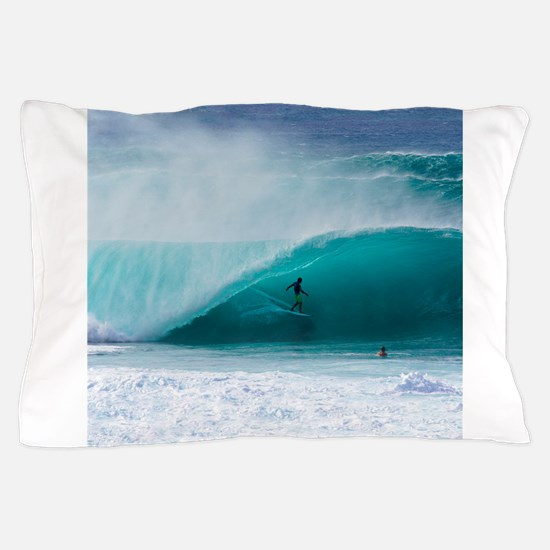Surfer Banzai Pipeline Pillow Case