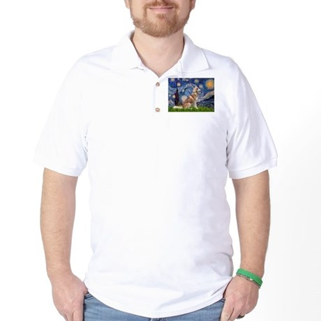 Starry Night & Red Hssky Golf Shirt