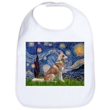 Starry Night & Red Hssky Bib