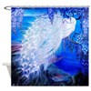 White Peacock, Wisteria, Twilight Shower Curtain