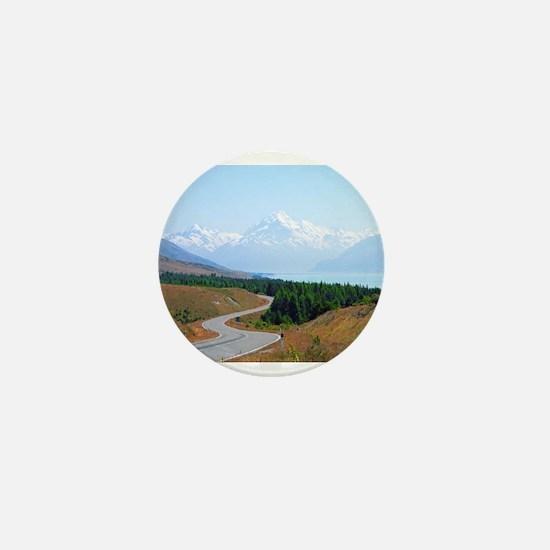 Mount Cook Highway NZ Mini Button