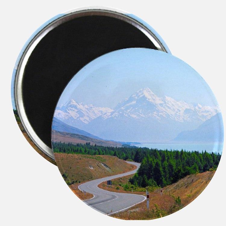Mount Cook Highway NZ Magnets