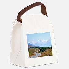 Mount Cook Highway NZ Canvas Lunch Bag