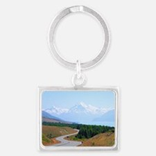 Mount Cook Highway NZ Keychains