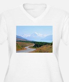 Mount Cook Highway NZ Plus Size T-Shirt