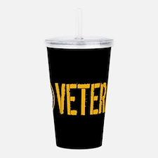 U.S. Navy: Veteran (Bl Acrylic Double-wall Tumbler