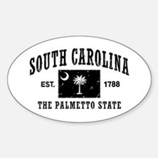 South Carolina Est. 1788 Sticker (Oval)
