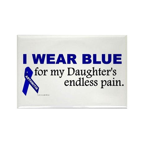 I Wear Blue For My Daughter's Pain Rectangle Magne