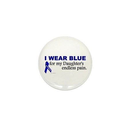 I Wear Blue For My Daughter's Pain Mini Button (10