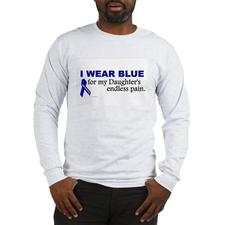 I Wear Blue For My Daughter's Pain Long Sleeve T-S