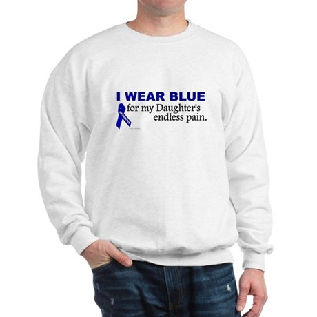 I Wear Blue For My Daughter's Pain Sweatshirt