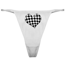 Checkered heart Classic Thong