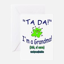 TA DA IRISH GRANDMA Greeting Card