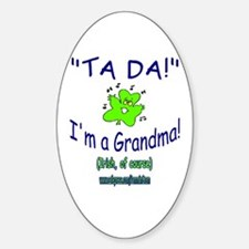 TA DA IRISH GRANDMA Oval Decal